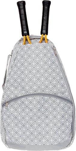 LISH Ace Tennis Racket Backpack - Women's Tennis Racquet Holder Bag (Grey)