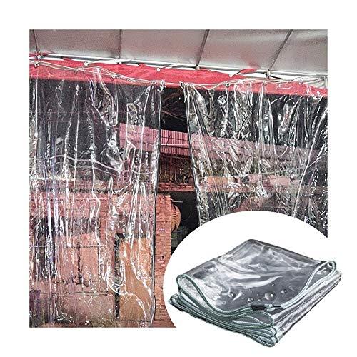 GZHENH Cortinas Transparentes Impermeable Mantener Caliente Fácil De Colgar Carpa De Invernada para Plantas Proteccion Solar con Ojal, 20 Tamaños (Color : Claro, Size : 1.1x3.8m)