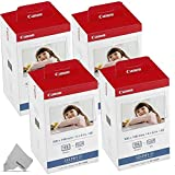 4 Pack Canon KP-108IN / KP108 Color Ink Paper includes 432 Ink Paper sheets + 12...