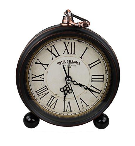 GMMH Tischuhr Nostalgie Antik Vintage Retro Metall Standuhr Dekowecker Uhr Wecker Design (antik...