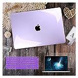 GYY para MacBook Air 11 12 13.3'Cubierta Clara De Cristal para MacBook Air Pro 13 15 16 Touch Barra/Touch ID A2289 A2338 M1 A2159 (Color : Crystal Purple, Size : Newest Pro13 A1708)