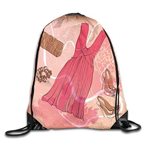 Bolsa con cordón para deporte, gimnasio, diseño floral, resumen de fondo rosa, pulsera de zapatos, mochila con cordón, mochila para gimnasio, mochila de hombro, para hombres y mujeres