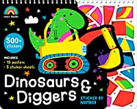 Dinosaurs and Diggers- Sticker by Number (Rainbow Books)