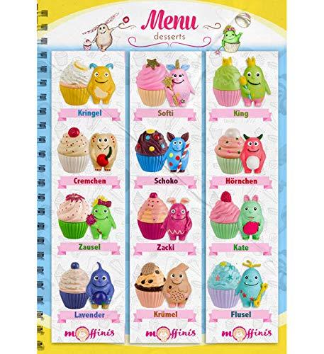 Unbekannt Blue Ocean Moffinis Sammelfigur alle 12 Figuren Moffini Muffin Monster