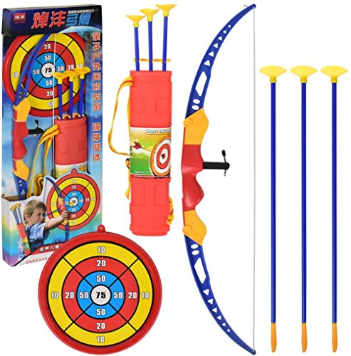 RCTOYS Bow and Arrow Archery Set - Comes with 6 Arrows - Develop Hands-Eye Coordination of Your Kids - Lightweight and Easy to Carry Best Gift