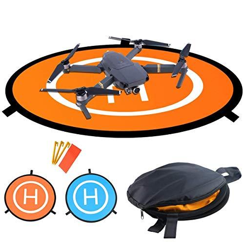 Pista Aterrizaje Drone, Almohadillas de aterrizaje plegables portátiles impermeables Universal D 55cm...