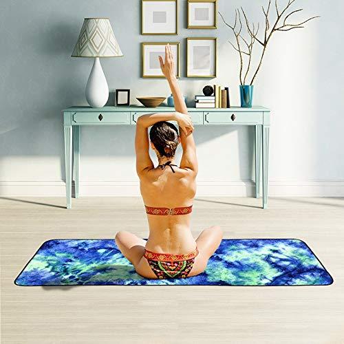 T1 microfibra antideslizante ecológica toalla plegable Yoga Mat Sports Drape, tamaño: 183 x 63 cm