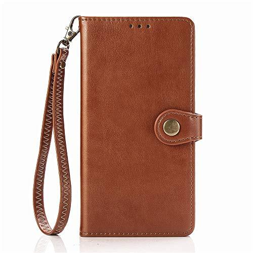 ケース 対応機種「 Redmi Note 10 Pro 」 [KAIDON] [モデル番号: C1-002#] 良質PUレザー マグネット開閉 カード収納 手帳型 ケース カバー (褐色)