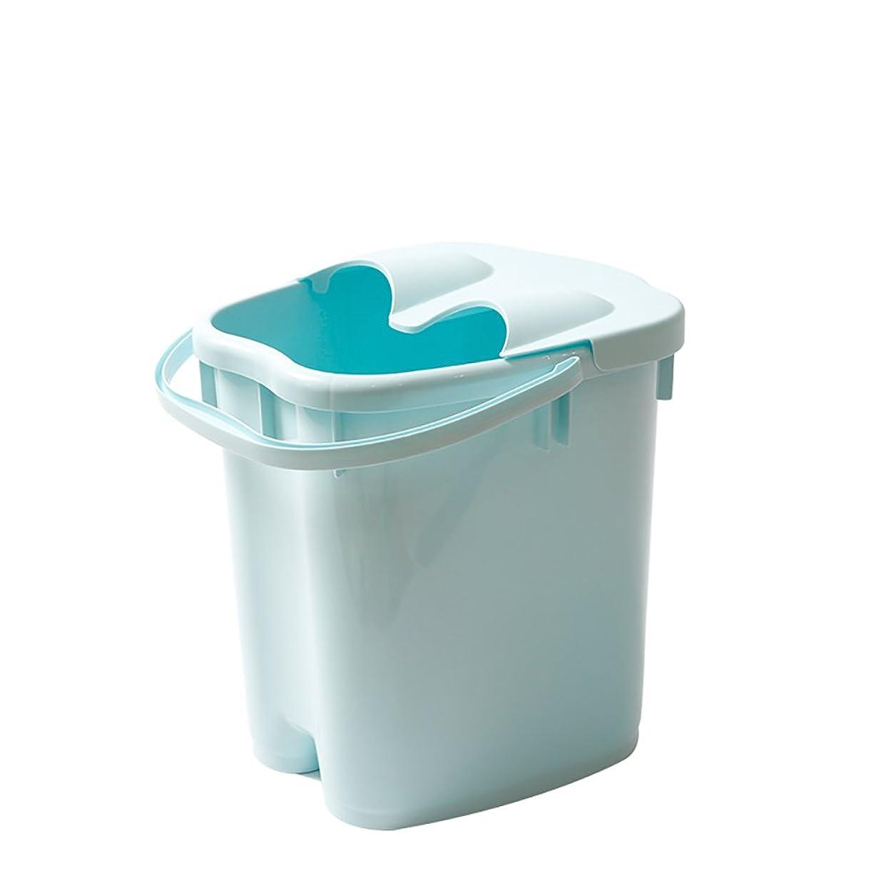 断言するトランクライブラリ見分けるフットバスバレル厚いプラスチックマッサージフットバスは、家庭の足湯20Lの大容量高水レベルを高め22 * 30 * 40センチメートル (色 : Blue)