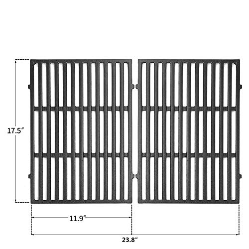 "N / A [2 Units] 7638 17.5"" Cast Iron Grill Grate Cooking Replacement for Weber Spirit 300, 310, 320 Series, Spirit 700, Genesis Silver B/C, Genesis Gold B/C, Genesis Platinum B/C Gas Grills Grates Grids"