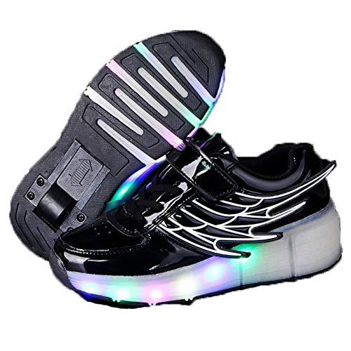 Zapatillas de Deporte Brillantes con LED para niños, Patines de una Rueda, Zapatillas de Deporte Brillantes, Zapatillas de Malla Transpirables para niños y niñas