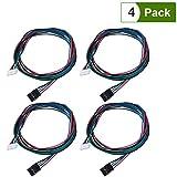 Ueetek - Cable de motor paso a paso bipolar de 4piezas - 100cm de largo para NEMA 17, utilizado en las impresoras 3D CNC