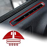 AIRSPEED Carbon Fiber Car Side Door Pillar Defogger Air Outlet Vent Sticker Interior Trim Decal Accessories for Dodge Charger 2015-2020 Accessories (Red)