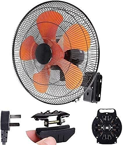Ventilador de metal Ndustrial, sin ruido, 45,7 cm, ventilador de pared silencioso para el hogar con control remoto/90 ° oscilante, 3 velocidades, ángulo ajustable, ideal para oficina/fanluty comercial