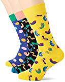 Happy Socks Happy Birthday Gift Box Calcetines, Multicolor (Multicolour 270), 7/10 (Talla del fabricante: 41-46) para Hombre