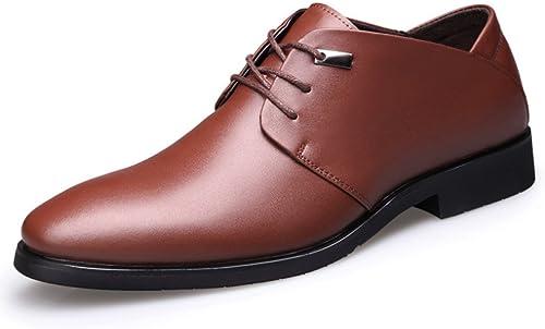 LYZGF Adulte Gentleman Gentleman Entreprise Mode Chaussures en Cuir VêteHommests De Cérémonie Dentelle Bout Pointu  parfait