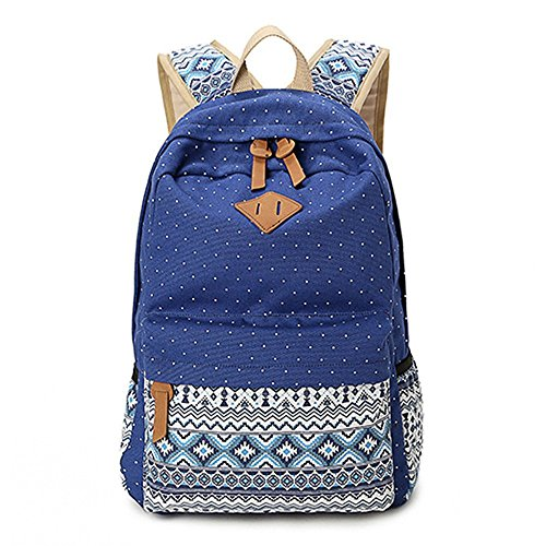 Sacs à dos géométrie Casual toile portable sac scolaire sac à dos léger pour jeunes adolescentes