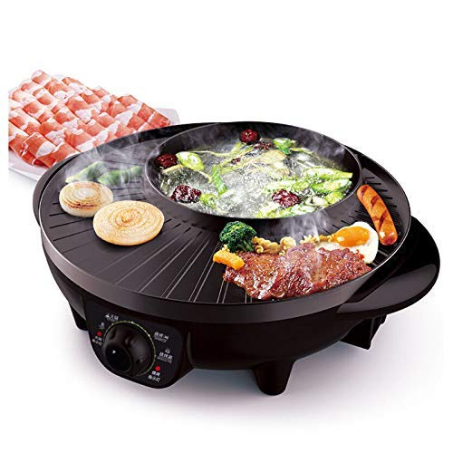 LIVEN SK-J3201A Electric Hot Pot With Grill,...