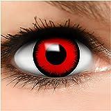 Farbige Kontaktlinsen Volturi Vampir in rot + Behälter - Top Linsenfinder Markenqualität, 1Paar (2 Stück) -