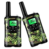 Toys for 3-12 Year Old Boys, Walkie Talkies for Kids 22 Channels 2 Way Radio Kid Toy Gift 3 Miles Long Range with Backlit LCD Flashlight Best Gifts for Boys and Girls
