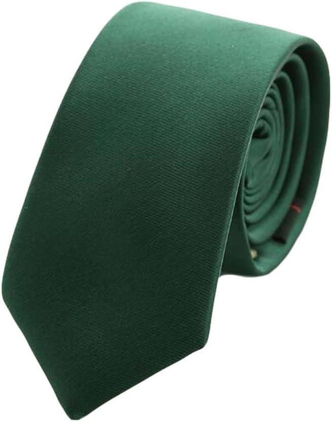 Wukong Direct Elegant Formal Neckties Men Polyester Neckties Skinny Neckties Dark Green 6 cm