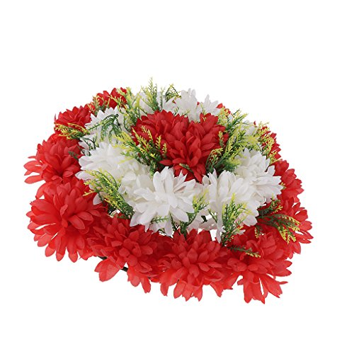 Baoblaze Artificial Handcraft Carnation Flower Arrangements in Grave Cemetery Wreath Flower - Red
