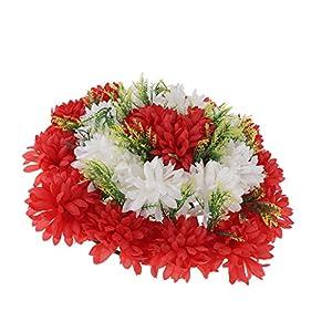 Baoblaze Artificial Handcraft Carnation Flower Arrangements in Grave Cemetery Wreath Flower – Red