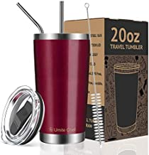 Umite Chef 20oz Tumbler Double Wall Stainless Steel Vacuum Insulated Travel Mug with Lid, Insulated Coffee Cup, 2 Straws, for Home, Outdoor, Office, School, Ice Drink