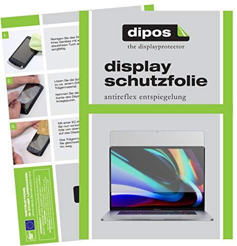 dipos I 2X Schutzfolie matt kompatibel mit Apple MacBook Pro 16 Zoll (2020) Folie Bildschirmschutzfolie