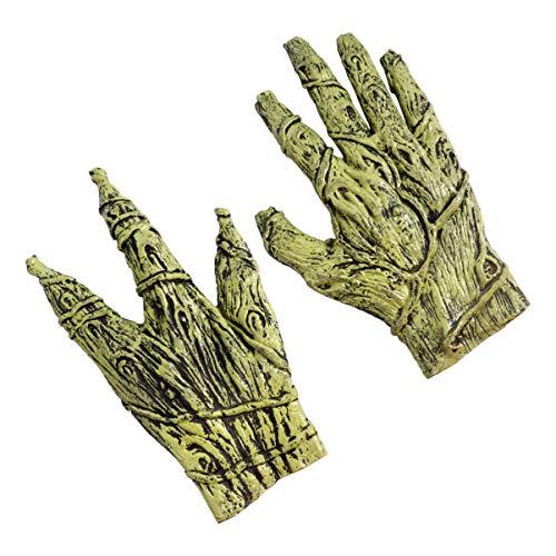 Amosfun Halloween Latex Party Handschuh Realistisch Schrecklich Trick Handschuh Cosplay Handschuh Alien Handschuh Werwolf Monster Kostüm Handschuh für Halloween Cosplay Party