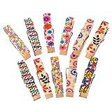 50 Pinzas de madera decoradas ideales para cintas con fotografias carpetas, cuadernos, invitaciones, scrapbooking ( libros de recortes con nuestras fotos) sobres, manualidades, tareas escolares.... de CHIPYHOME