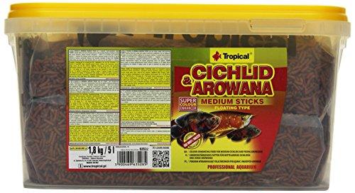 Tropical Cichlid & Arowana Medium Sticks - Farbverstärkende Futtersticks mit Astaxanthin, 1er Pack (1 x 5 l)