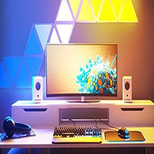 JAKROO Smart Light Panels Dreieckig WiFi Smart Lighting Panels mit 16 Millionen, für Showroom/Tagungsräume Scheinwerfer, 9 Pack