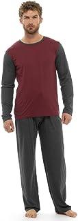 Clothing Unit Mens Loungewear Jersey Long Sleeve Top Pyjama Bottoms Set Pjs Gift S M L XL