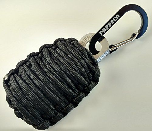 PREP2GO Paracord Survival Grenade Keychain (20pc)-Military Grade Prepper Emergency Gear-Cool Camping Hiking Hunting Gadget Gift-Moms Feel Safe! Your Kids can get Food, Fire & Shelter When Lost.