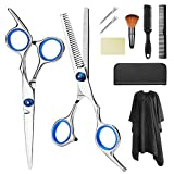 Best Scissors Barbers - Professional Hair Cutting Scissors Set 9 Pcs Hairdressing Review