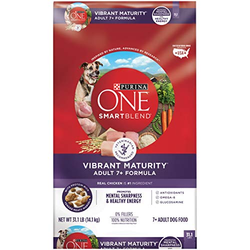 Purina ONE Senior Dry Dog Food, SmartBlend Vibrant Maturity Adult 7+ Formula - 31.1 lb. Bag