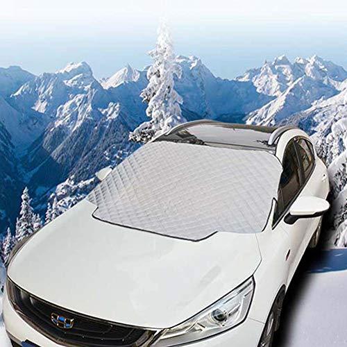 FSGD Auto voorkant sneeuw dekking, auto buitenkant glazen deksel ijs en sneeuw voorruit vorst guard cover sneeuw zomer zonneklep