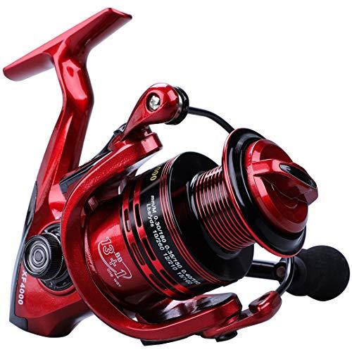Carrete de Pesca Giratorio 13 + 1BB Serie 1000-7000 Carrete de Rueda de Bobina de Pesca Carrete de Agua Salada para caña de Pescar Bass Pike Gold 1000 Series