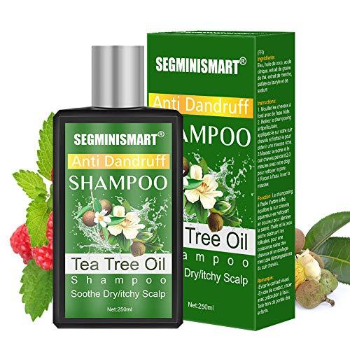 Champú de árbol de té,Champú AntiCaspa de Aceite de Arbol de Te,Champú de Árbol del Té,limpieza profunda de caspa, el cuero cabelludo seco y el cabello con picazón