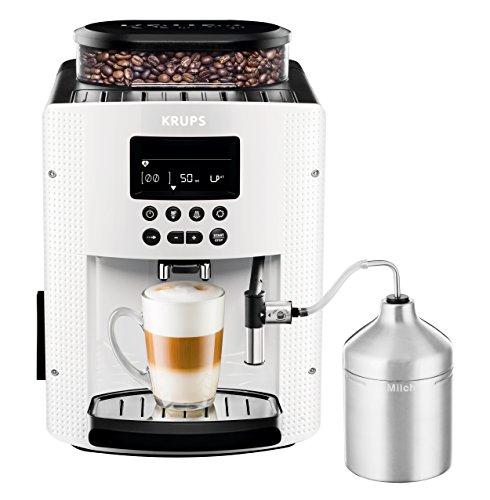 Krups EA8161 Kaffeevollautomat (1,8 l, 15 bar, LC Display, AutoCappuccino-System), weiß