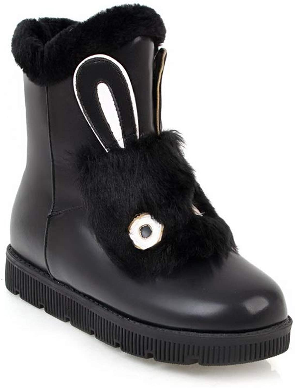AN Womens Assorted colors Fur Collar Urethane Boots DKU02050