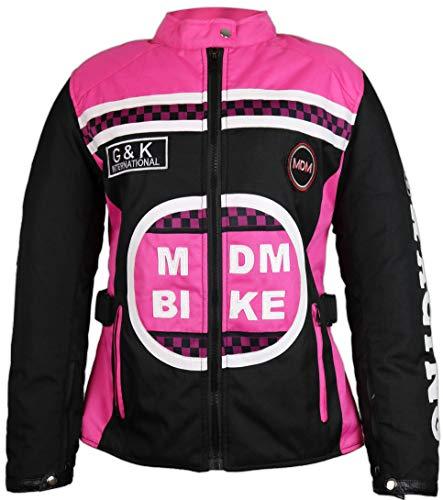 MDM Damen Jacke mit Protektoren in Pink (XL)