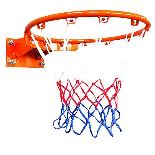 ZZLYY Aro De Baloncesto para Adultos,Aro De Baloncesto Sólido De Doble Resorte,Adecuado para Deportes Y Fitness En Interiores Y Exteriores, con 2 Redes De Baloncesto, Naranja