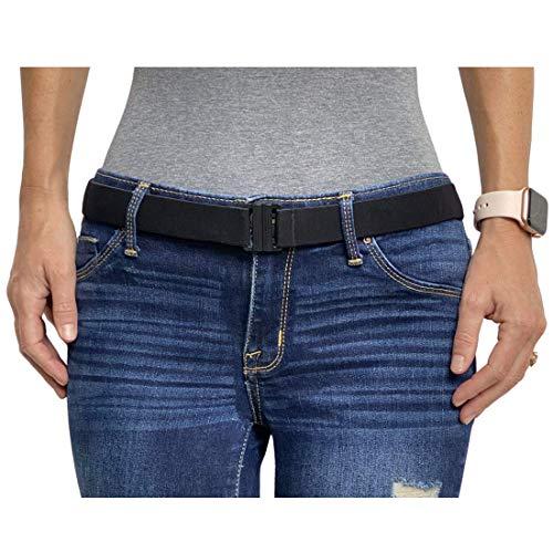 Tights Up: Cinturón elástico ajustable. Hebilla plana. Antideslizante (Negro)