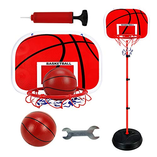Buy MTPLUM Kids Basketball Hoop Basketball Set Adjustable Height 73-170cm Basketball Portable Basket...