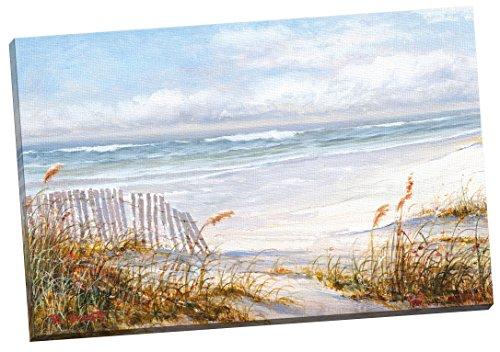 "Portfolio Canvas Decor ""Beach Fence by Robin Scott Wrapped/Stretched Canvas Wall Art, 24 x 36"