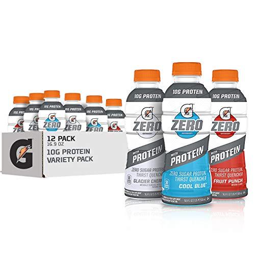 Gatorade Zero With Protein, 10g Whey Protein Isolate, Zero Sugar,...