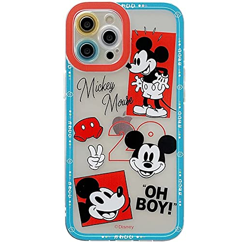 iFiLOVE for iPhone 12 Pro Max Mickey Mouse Case, Girls Boys Women Kids Cute Cartoon Character Slim Soft TPU Clear Protective Camera Case Cover for iPhone 12 Pro Max 6.7 inch (Mickey Mouse)