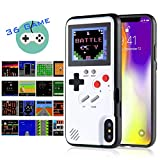 Gameboy iPhone Case Handheld Game Console Case Protective Cover, AISALL Gameboy Phone Case for iPhone 6/7/8 Plus iPhone X XR XS Max with 36 Classic Retro Games & Full Color (White, iPhone Xs Max)